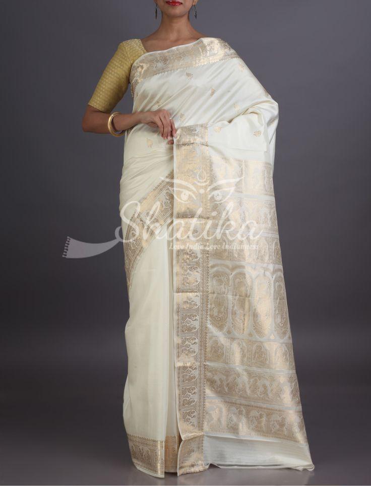 Radha Intricate Mute Gold Motifs From Epic Pristine Baluchari Saree