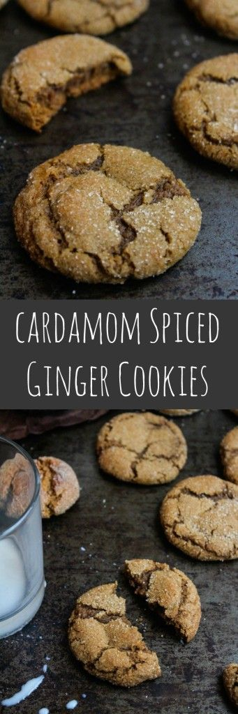Soft and chewy cardamom spiced ginger cookies. Made in one bowl and ready in under an hour, these spiced cookies are grain, dairy, and nut free – perfect for your afternoon cup of tea.