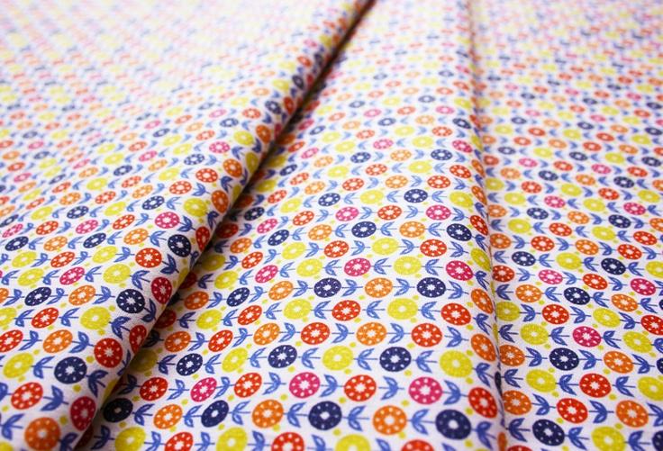 Fabric Finders #1127 Multi Floral Yellow Orange