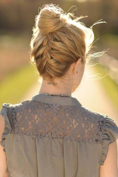 Upside Down French Braided Bun Cool Hairstyles For Teen ...