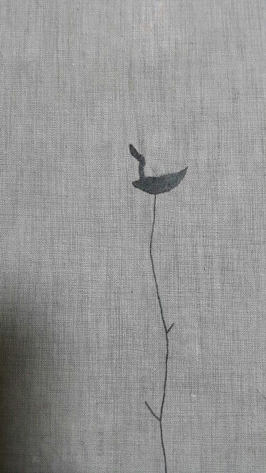 솟대 ㅡ my work / needlework(grey cotton sheets )