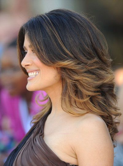 current haIR color techniques | Check Out Salma Hayek's Latest Hair Makeover: Girls in the Beauty ...