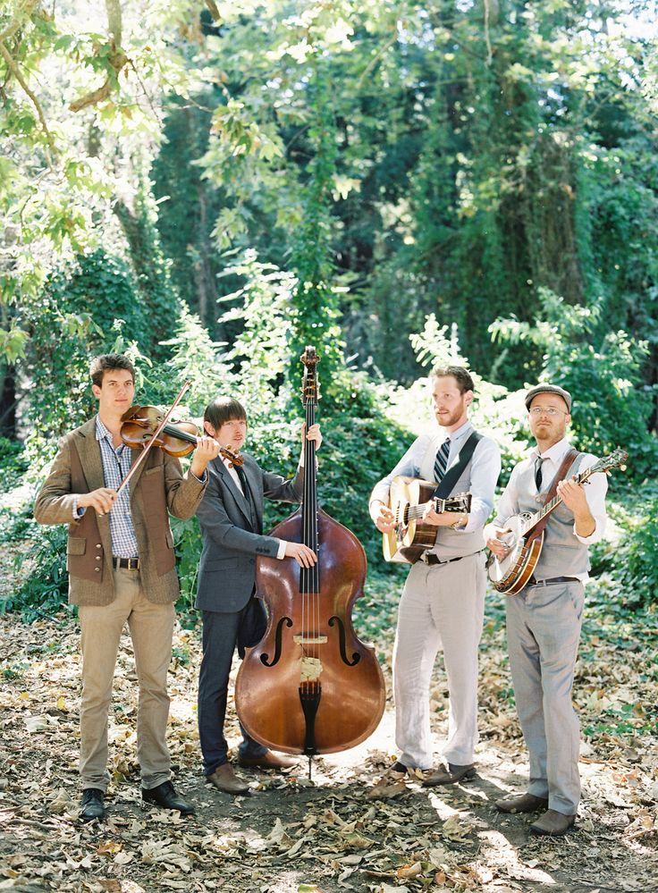 How cute is this band? TheGetDownBoys.com -- On Style Me Pretty today! Jose Villa Photography | See the outdoor / barn wedding celebration on http://www.StyleMePretty.com/2014/01/15/rustic-elegance-at-dos-pueblos-ranch/