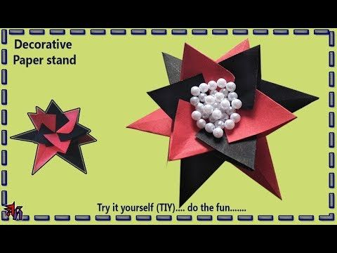 Paper decorative stand by Art House | How to make origami paper stand DIY