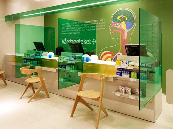A Swedish pharmacy designed by Kari Moden