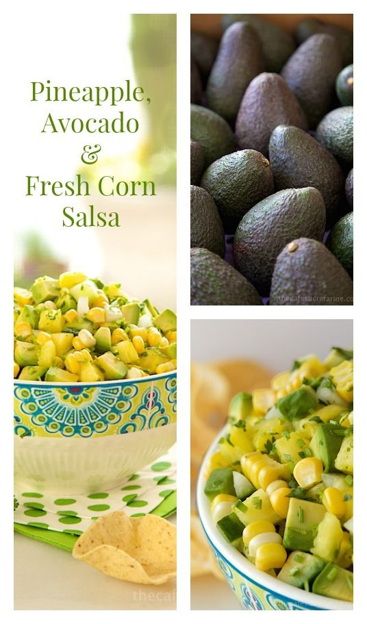 Amazing with chips but it also make a great frsh sauce for grilled entrees. We loved it with lettuce as a salad too. Pineapple, Avocado & Fresh Corn Salsa - thecafesucrefarine.com