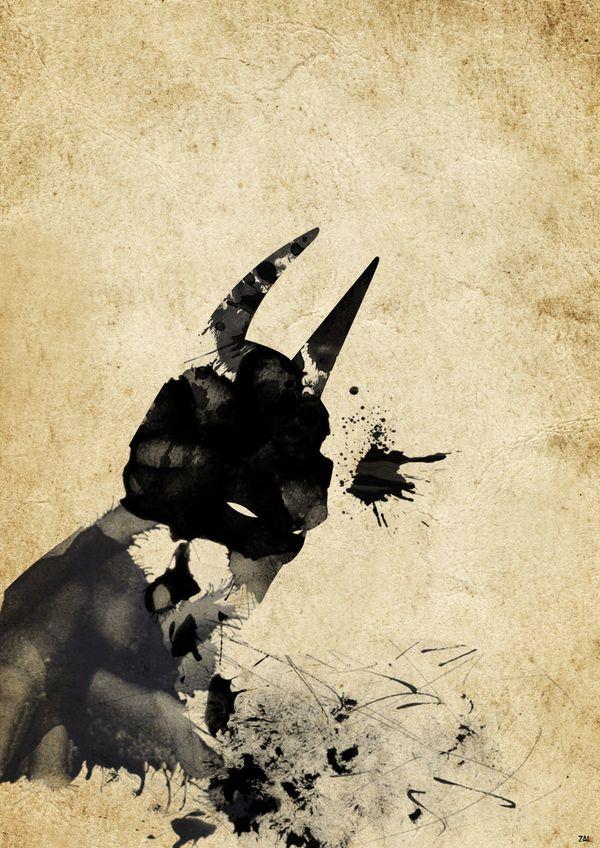 #batman #dc #comic #ArianNoveir #paint #splatter