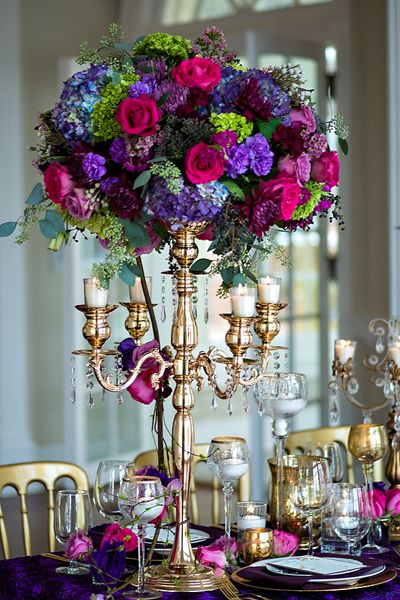 tall centerpiece | Old South Studios #wedding