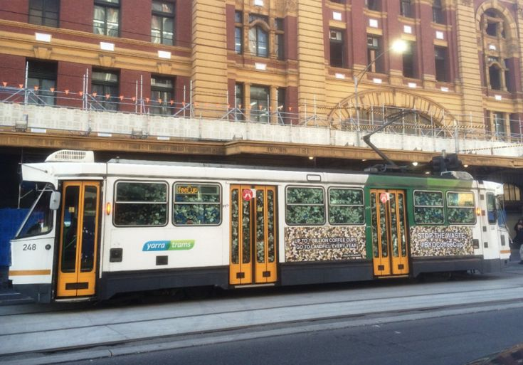 Craig Reucassel has a point to make, and he's doing it in the CBD today.