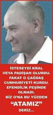 """✿ ❤ ❤ ❤ Çünkü O'nun Adı """"ATATÜRK"""" Türk'ün ATA'sı!!! Bizim ATA'mız!!!"""