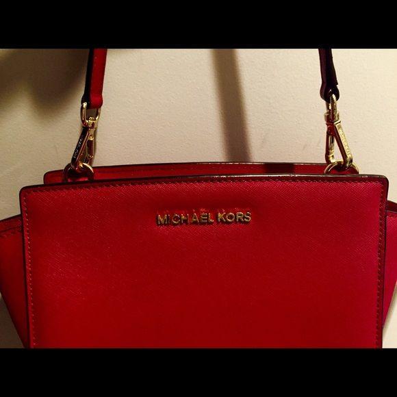 30% off Michael Kors Handbags - Michael Kors Medium Red Selma Handbag from Caroline's closet on Poshmark