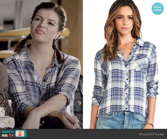 Annie's blue plaid shirt on Marry Me.  Outfit Details: http://wornontv.net/48556/ #MarryMe