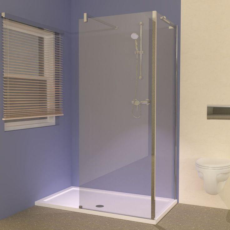 Bathroom Design Ideas - Line 1400 x 800 Tray with Walk-in Shower Enclosure