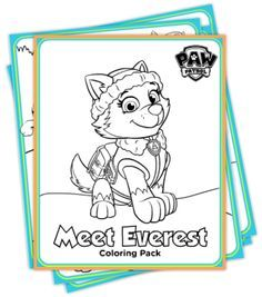 Free Winter Paw Patrol DIY Party Templates and Coloring printables