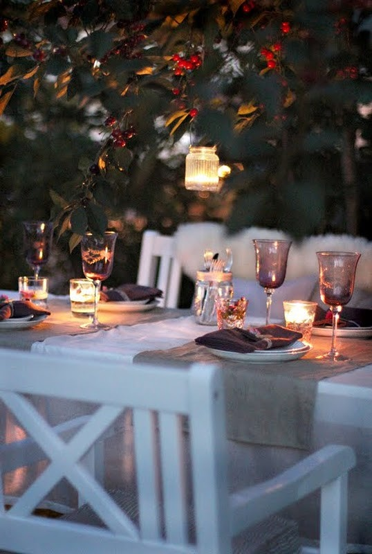 Candles: Alfresco, Tables Sets, Solar Lights, Gardens Dinners, Candles, Gardens Patio, Dinners Parties, Gardens Parties, Dreams Gardens