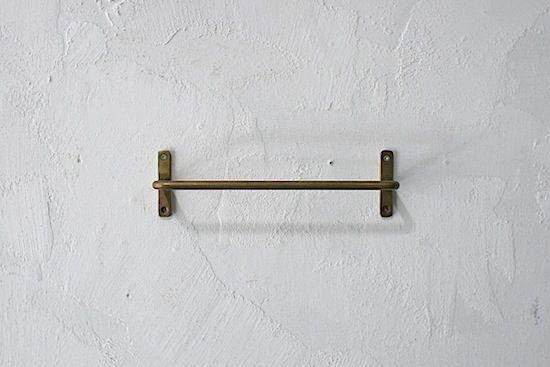 アイアン壁付けタオルハンガー / 23cm / アンティークゴールド 販売価格 972円(内税) 2本購入