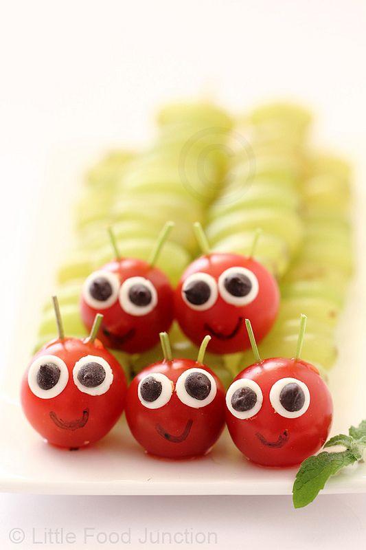 Obst-Obstfiguren-Tipp-Weintrauben-Raupe-Kindergeburtstag