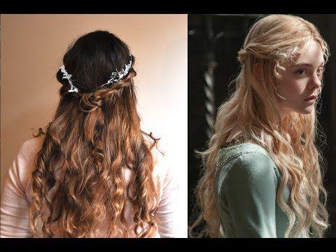 Disney's Princess Aurora Twistback Hair Tutorial- Maleficent