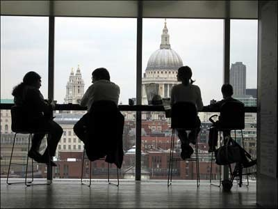 coffee at tate modern overlooking the city... london