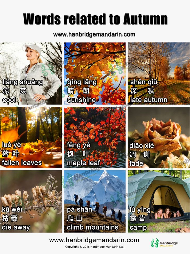 Words Related To Autumn: 7 Best Chinese Words - Space Images On Pinterest