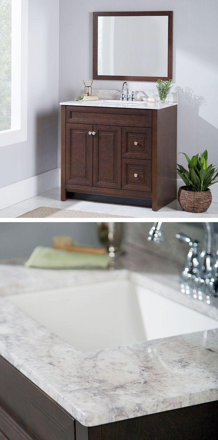 Home Decorators Collection Brinkhill 37 in W x 39 in H x 22 in D Bathroom Vanity in Cognac