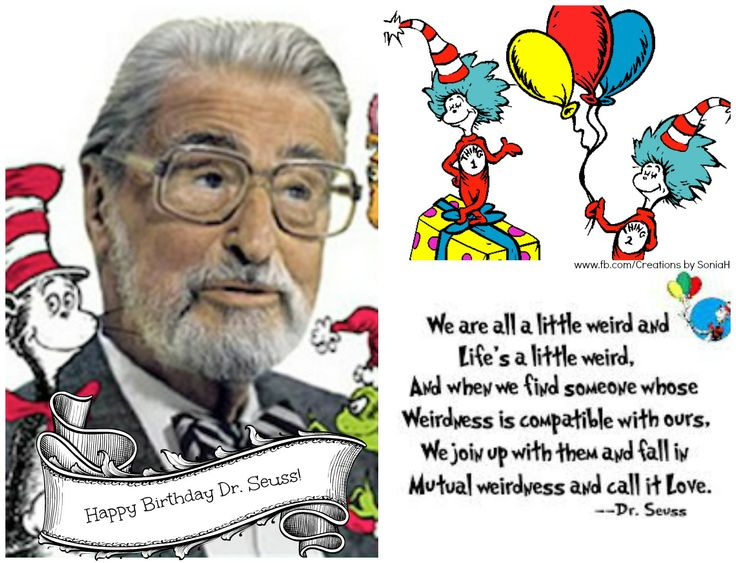 """To the master of creativity, quotes, and amazing books - Happy Birthday Dr. Seuss!!!  """"Think left and think right and think low and think high. oh, the thinks you can think up if only you try!"""" -- drSeuss  #drseuss #birthday #quotes #children #lifequotes"""