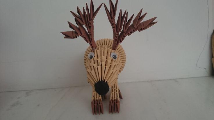 3d origami reindeer