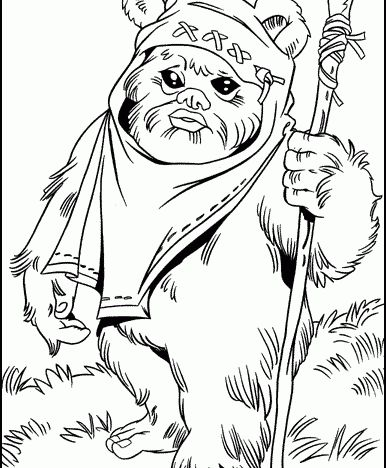 ewok1 ewok starwars coloring pages from 101coloringpagescom - Lego Princess Leia Coloring Pages