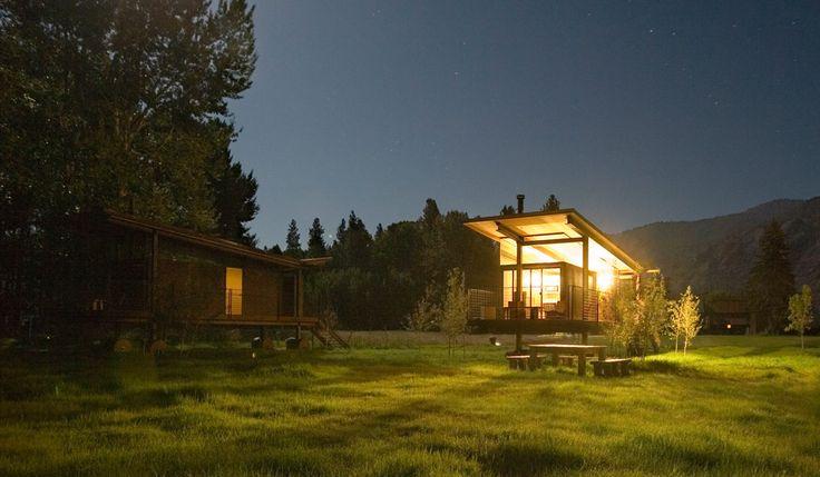 ROLLING HUTS; Methow Valley, Washington; refrigerator, microwave, fireplace, wi-fi, sleeps 4.