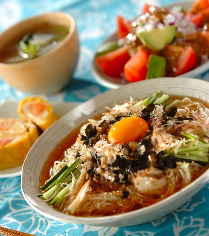 「冷やし納豆素麺」の献立・レシピ - 【E・レシピ】料理のプロが作る簡単レシピ/2016.06.13公開の献立です。