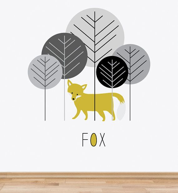 Woodland Fox Repositionable Removable Wall Sticker Wall Decal