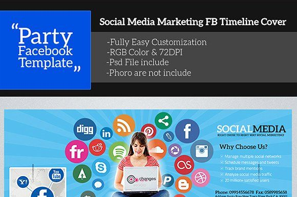 Social Media Facebook Timeline Cover by Madhabi Studio on @creativemarket