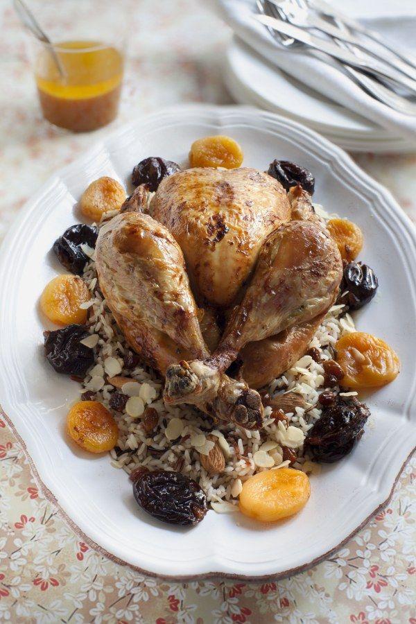 Poularde rôtie aux fruits d'hiver Recette (avec images
