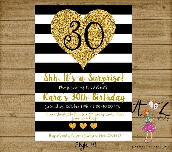 The 25 best 30th birthday invitations ideas – 30th Birthday Invitation