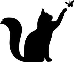 cat silhouette template - Google Search