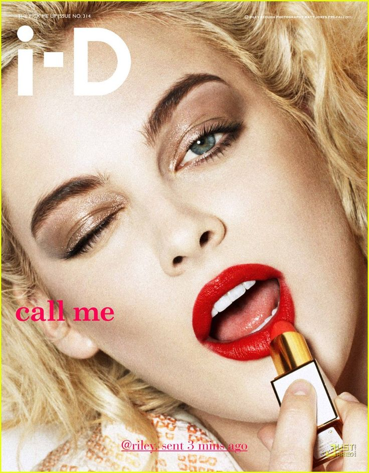 riley on the cover of I-D mag.
