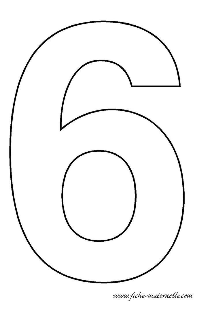 Number 6 Template Stoelen With Images Numbers Preschool Free