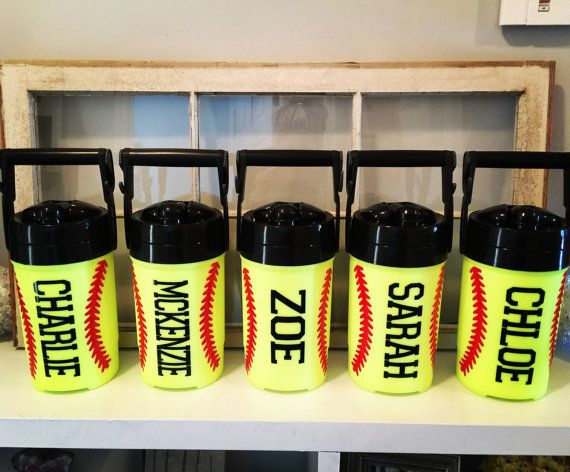 Softball Water Jug Personalized Water Jug by SimplySouthernChics