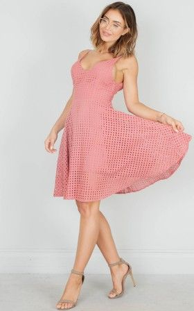 Completely Infatuated dress in plum crochet