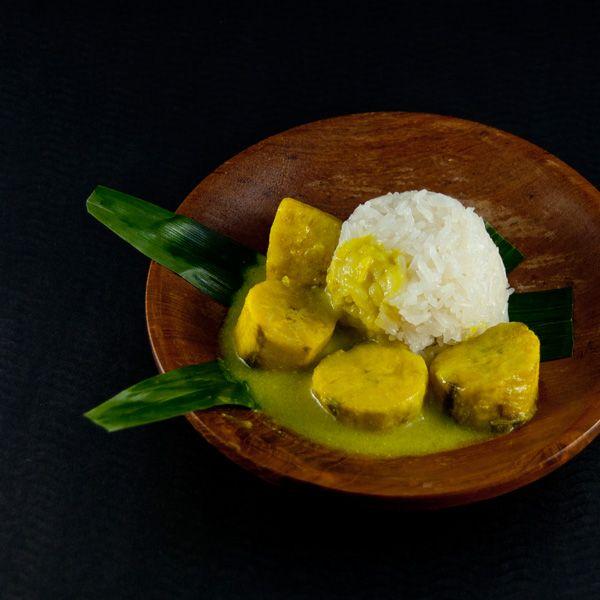 Klebreis mit Kochbananen #vegan Dampfen Nachtisch Pochieren Reis und Nudeln Vegan Food #asianfood #asiatisch #exotisch
