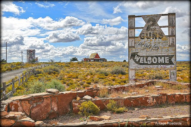 Two Guns, Arizona. Former tourist attraction along old Route 66.