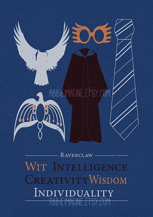 Ravenclaw Minimalist Poster Harry Potter Print by AbbieImagine