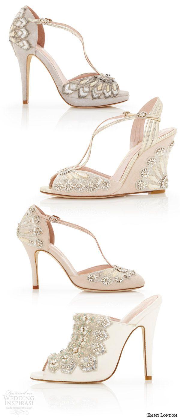 Emmy London Wedding Shoes Cancello Bridal Collection Art Deco