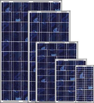 Polykrystallinske solcelle 5W, 10W, 20W, 30W, 50W, 100W