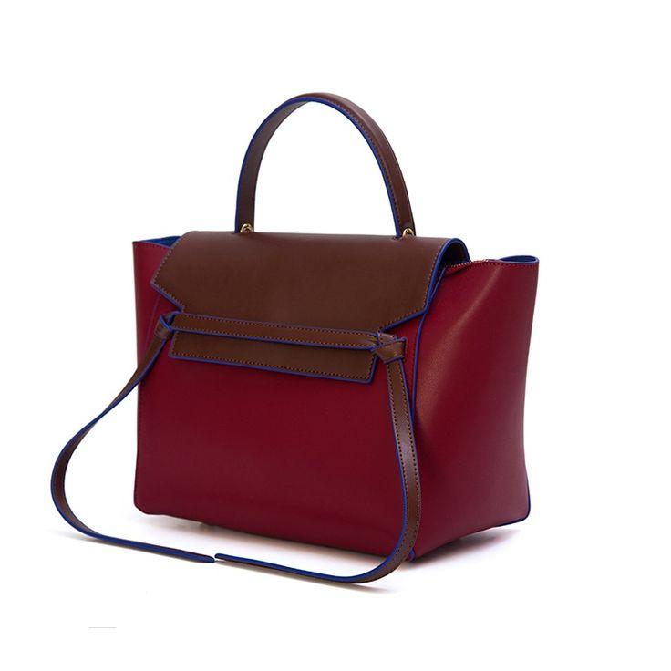 Ремень сумки сумки женщины известные бренды моды корова натуральная кожа плеча phantom trapeze сумки Улыбающееся лицо мешок с логотипом