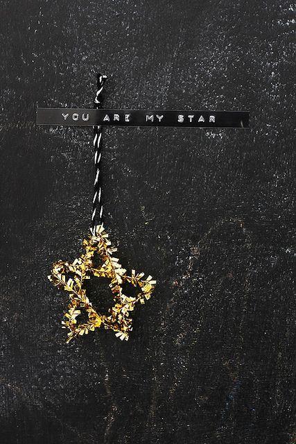 diy star gold+words