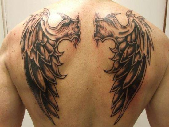 Went straight Pornstar angel wings tatoo all the