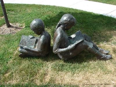 children reading sculpture#Repin By:Pinterest++ for iPad#