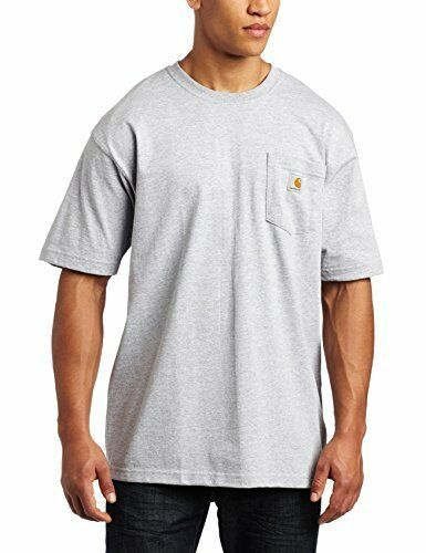 bdac01df53 Carhartt Men's 'K87' Workwear Pocket Short-Sleeve T-Shirt Heather Grey  Large #Carhartt #Doesnotapply