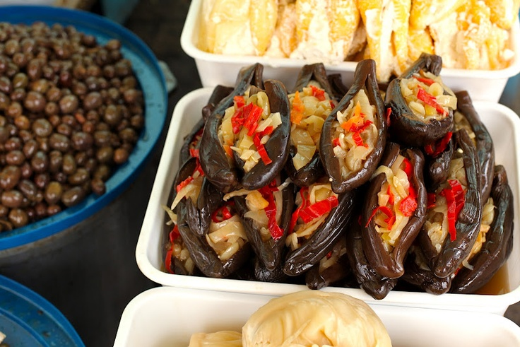 pickled and stuffed eggplant